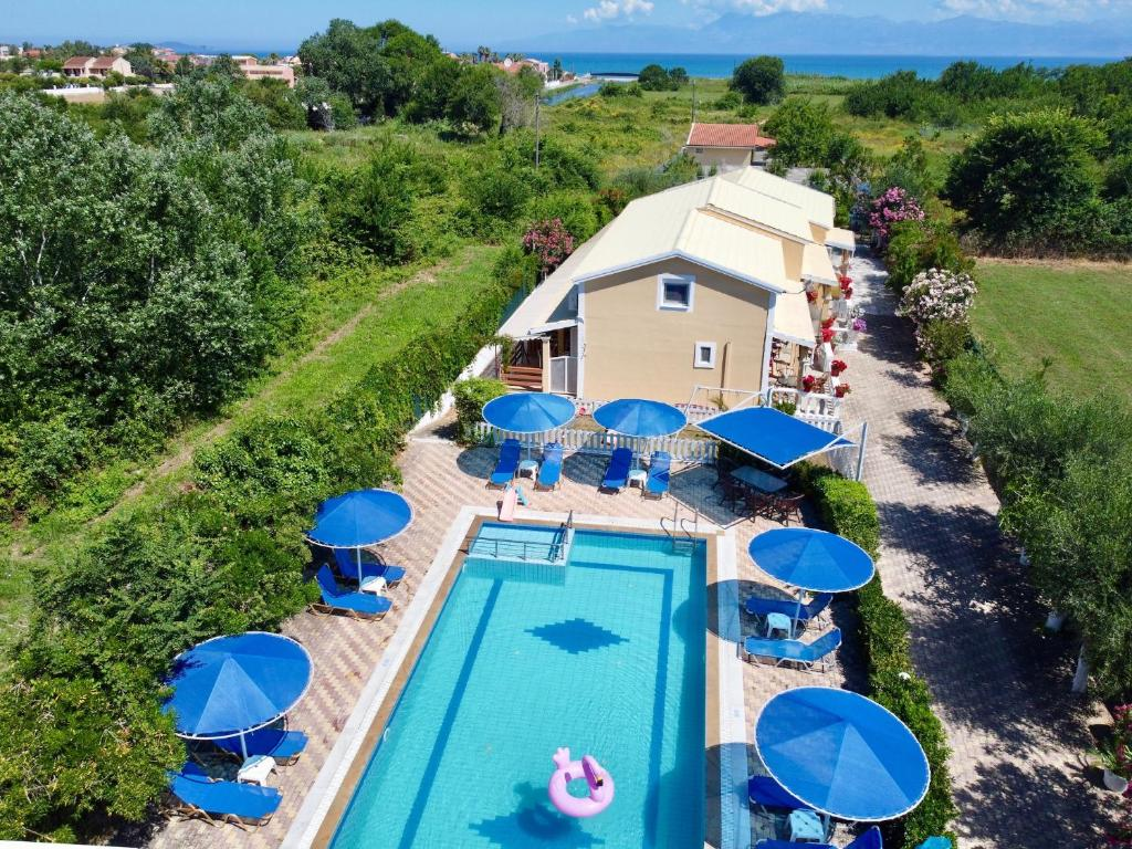 A view of the pool at Eleni Family Apartments or nearby
