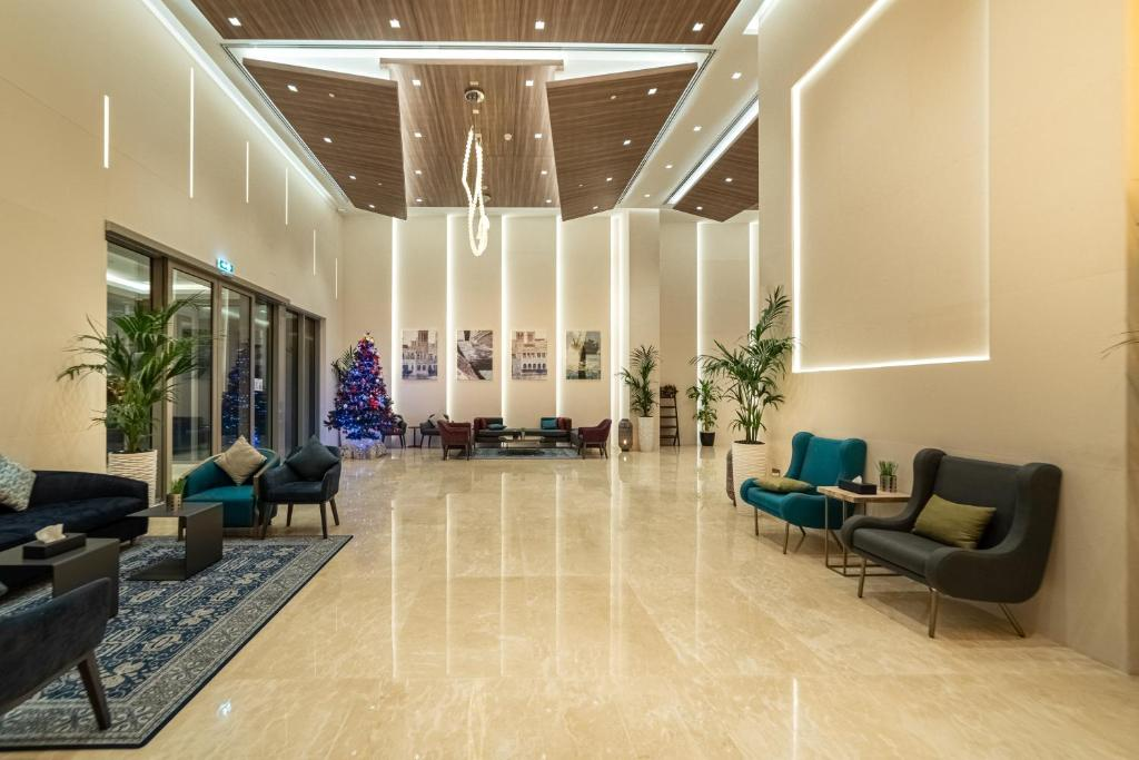 The lobby or reception area at Suha Mina Rashid Hotel Apartments Bur Dubai