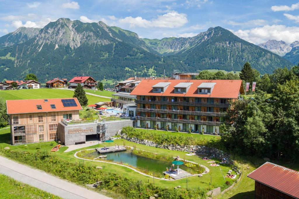 A bird's-eye view of Hotel Oberstdorf