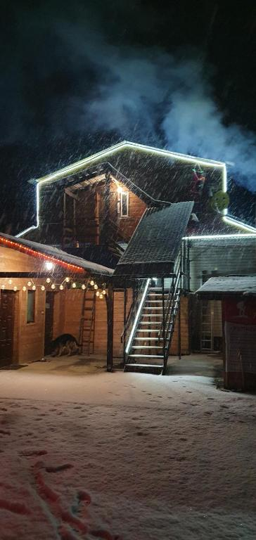 Мини Отель Дего зимой