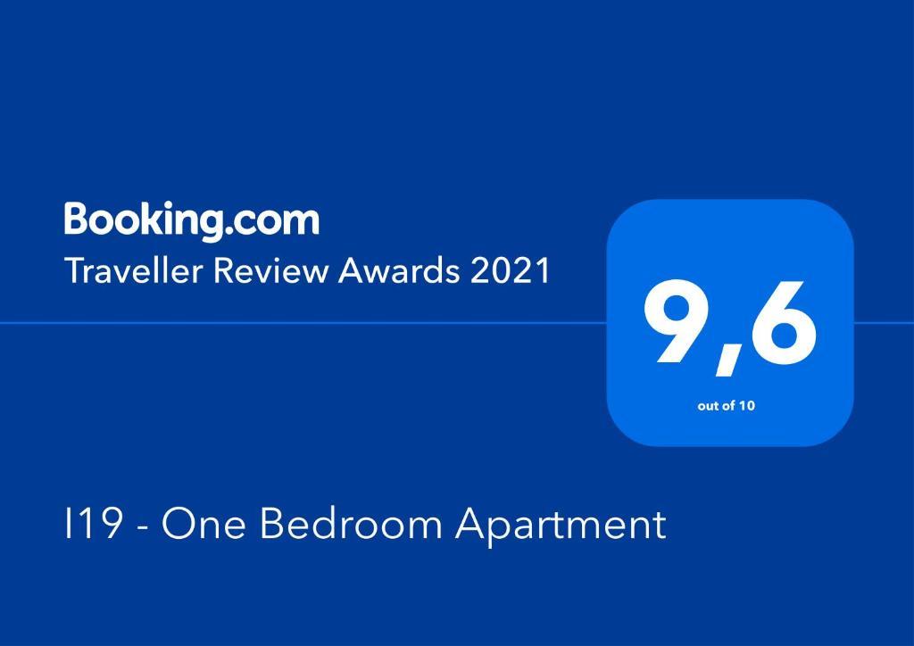 Certificado, premio, señal o documento que está expuesto en I19 - One Bedroom Apartment