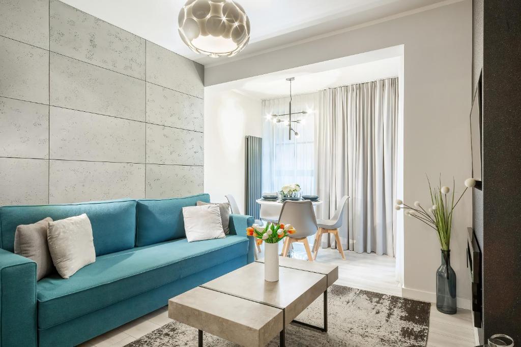 Posezení v ubytování Apartments Cracow Wawrzyńca by Renters