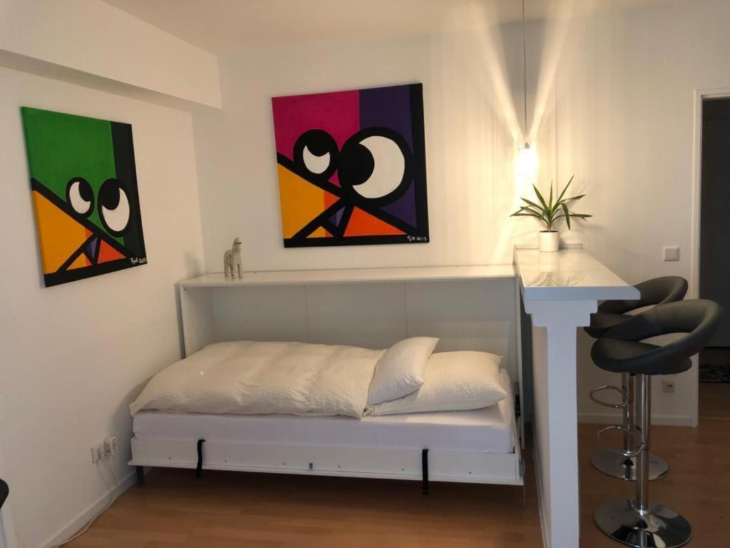 Ein Sitzbereich in der Unterkunft Business meets Düsseldorf Apartments