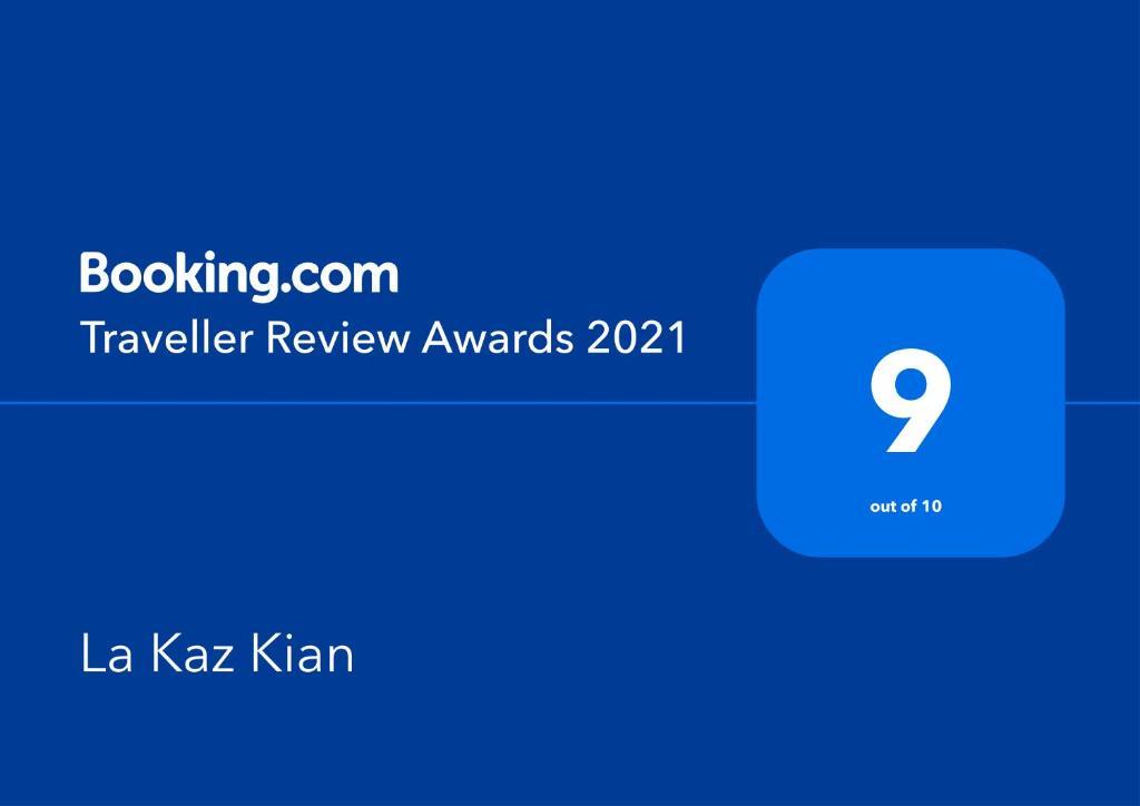 Certificat, récompense, panneau ou autre document affiché dans l'établissement La Kaz Kian