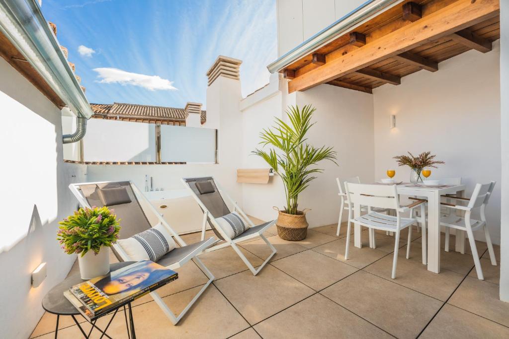 Un balcón o terraza de Debambú Suites