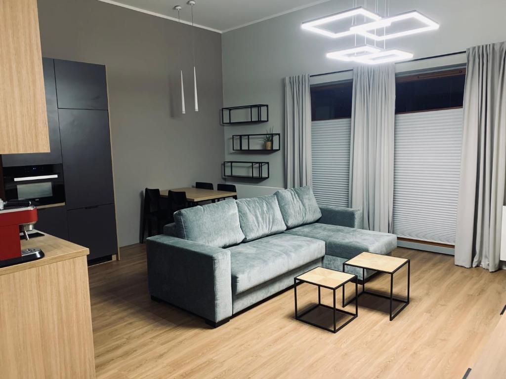 Część wypoczynkowa w obiekcie Apartament Rakowicka NOVUM Centrum z miejscem parkingowym