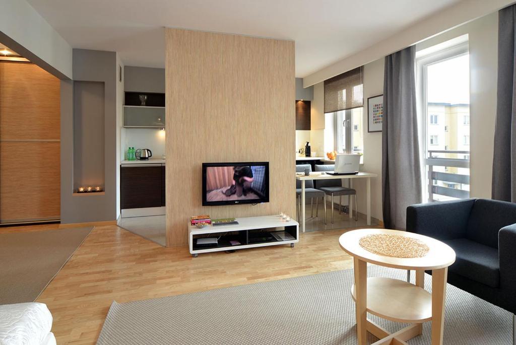 Telewizja i/lub zestaw kina domowego w obiekcie Apartament Classic