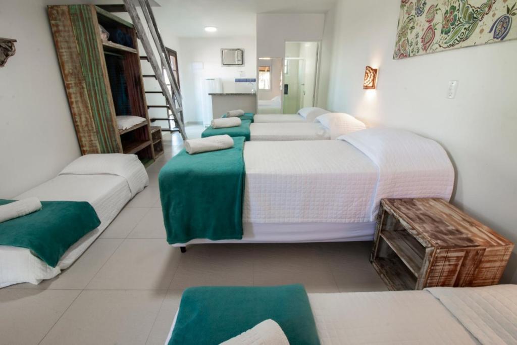 Cama ou camas em um quarto em Apart Hotel Porto Kanoas