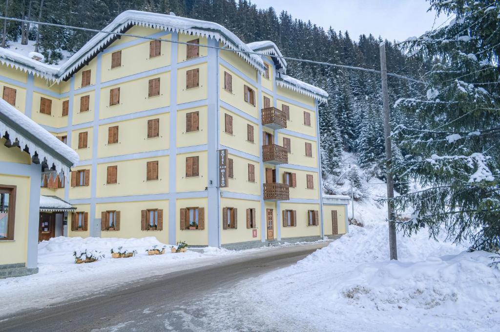 Hotel Milano durante l'inverno