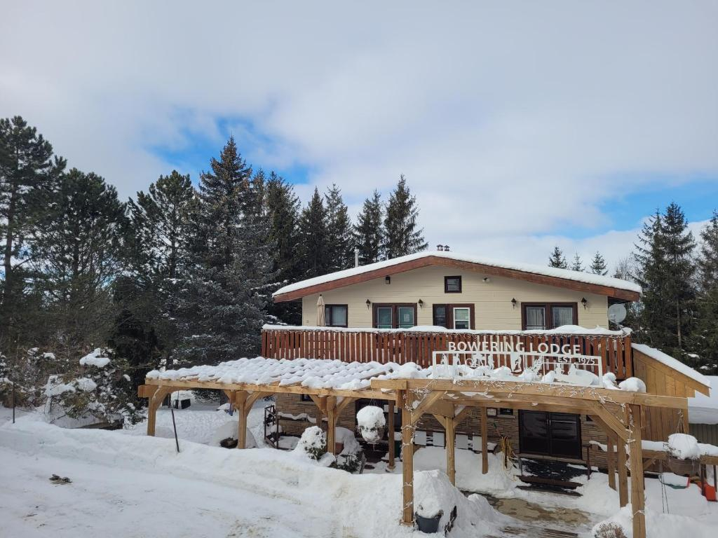 Bowering Lodge during the winter