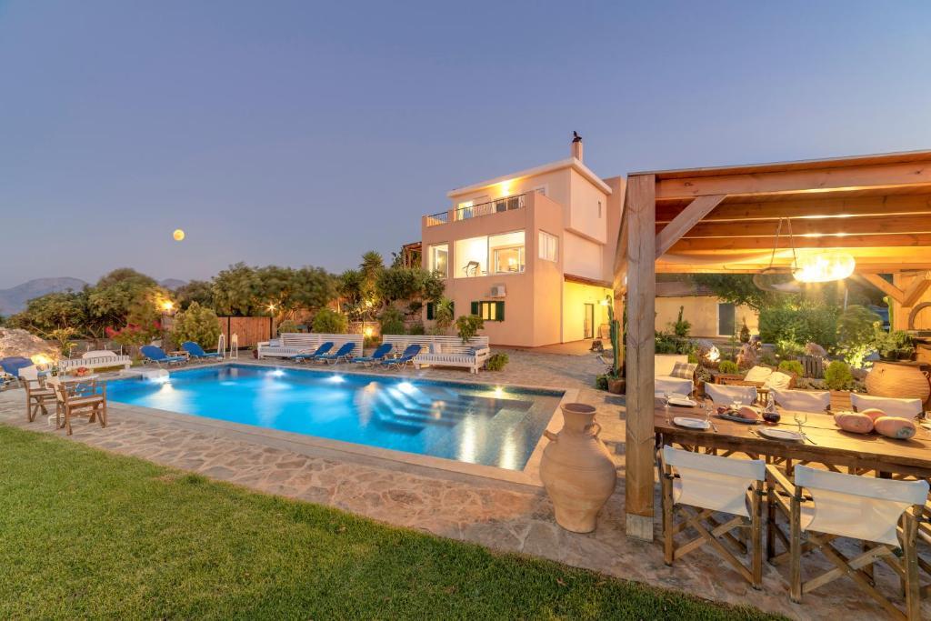 The swimming pool at or close to Villa Odyssia