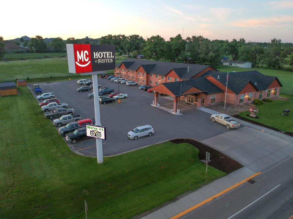A bird's-eye view of Miles City Hotel & Suites