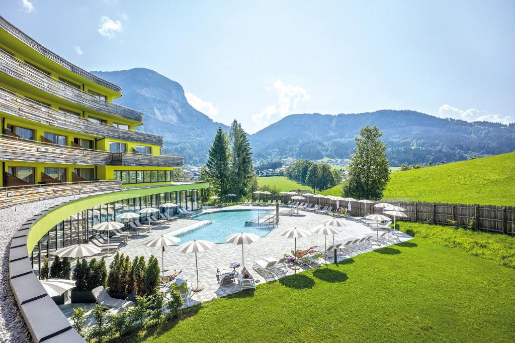 A view of the pool at 4* Superior Gesundheits-Resort, Hotel & SPA - DAS SIEBEN or nearby