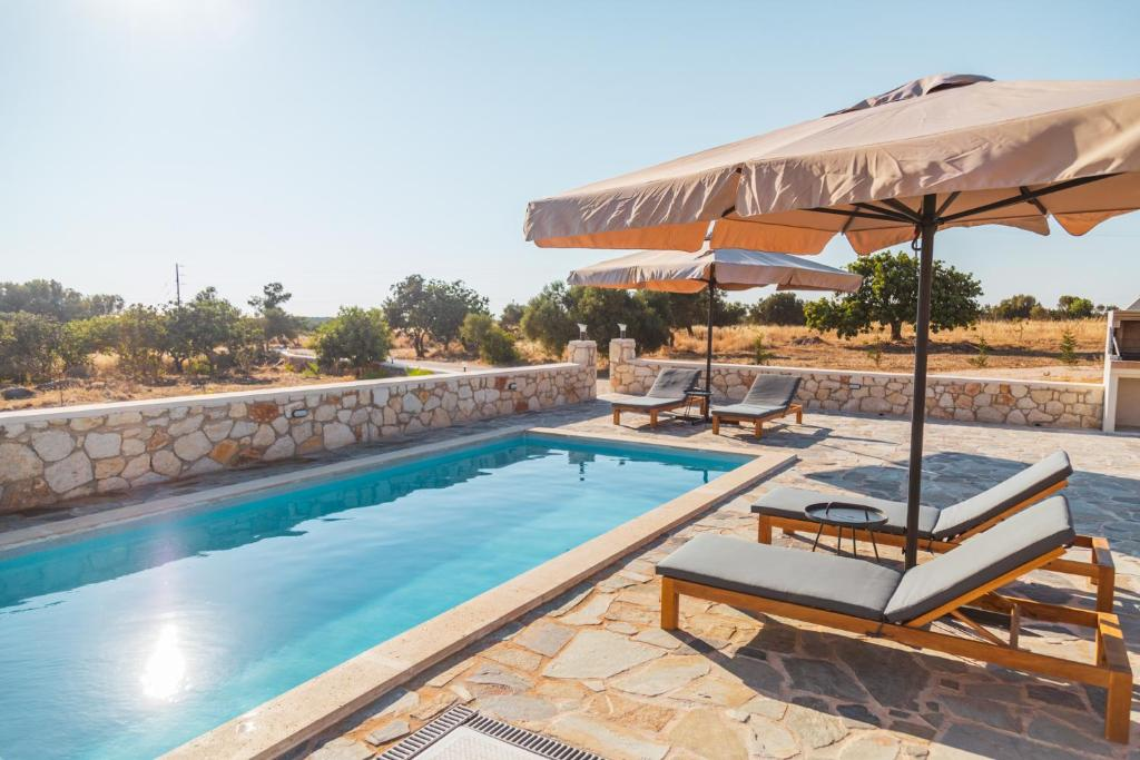 The swimming pool at or near Private, Quiet, Isolated Villa in Chania / HomeAlone
