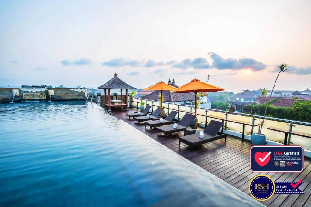 The swimming pool at or near Royal Singosari Kuta