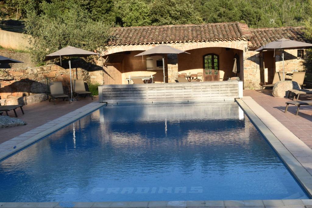 The swimming pool at or near Hôtel Restaurant Le Pradinas