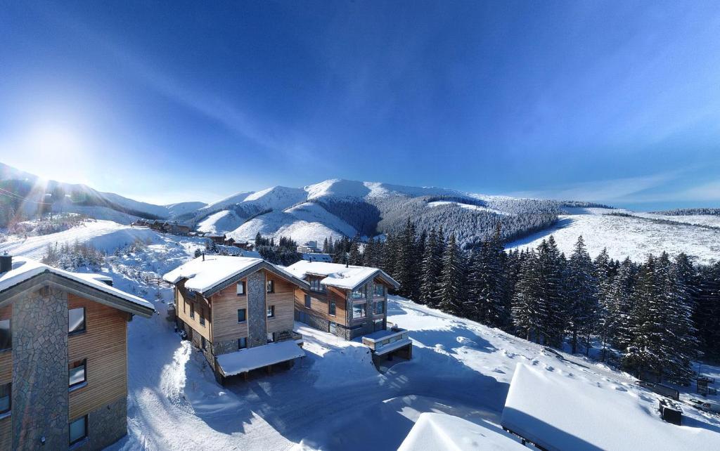 Chalety Jasná Apartmány Bor v zime