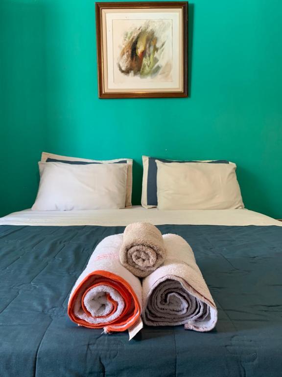 Cama o camas de una habitación en Amanda Suites