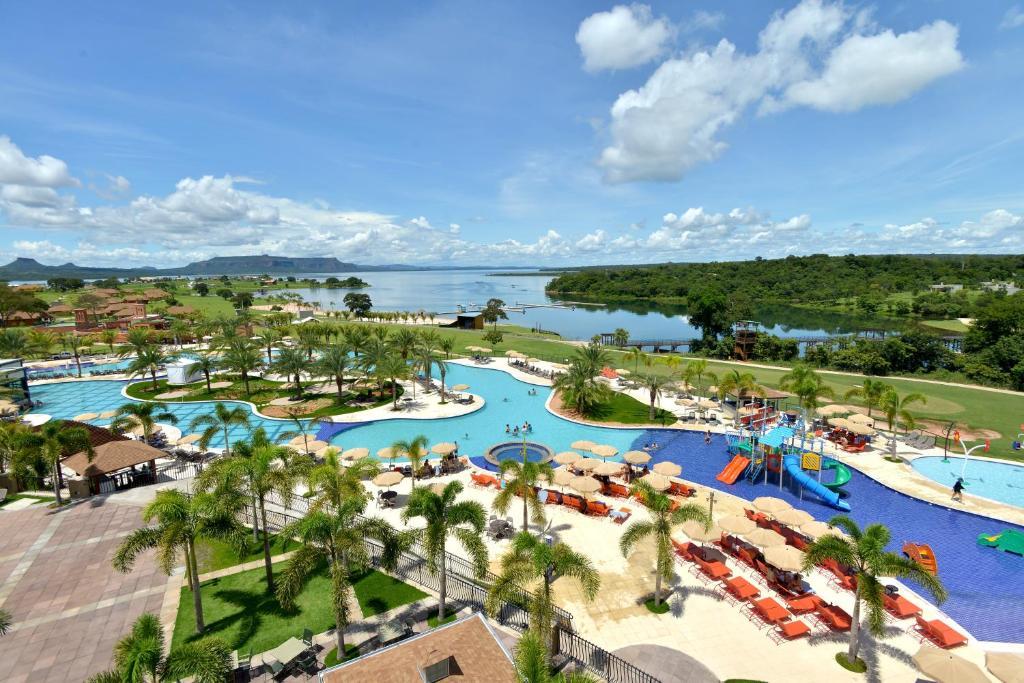 Uma vista da piscina em Malai Manso Resort Yatch Convention & Spa ou nos arredores