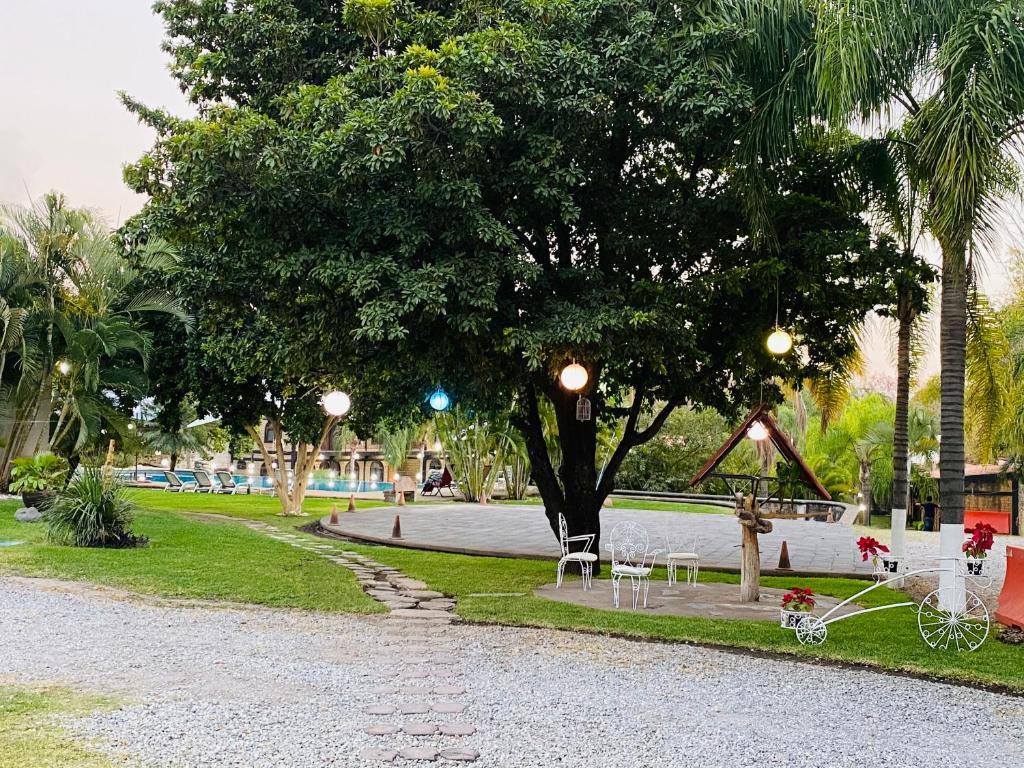 Jardín al aire libre en Hotel Posada El Encanto