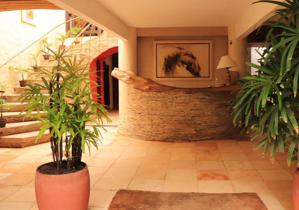 The lobby or reception area at Pousada Dos Artistas