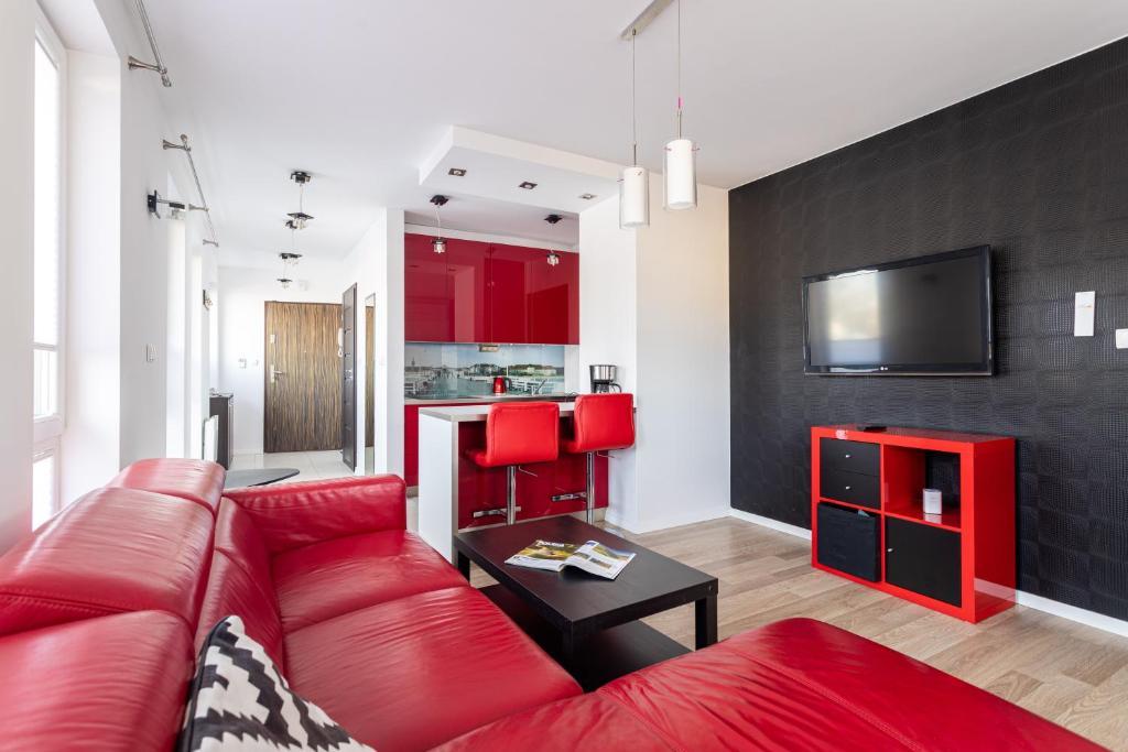 A seating area at Victus Apartamenty, Apartament Villa Sunrise