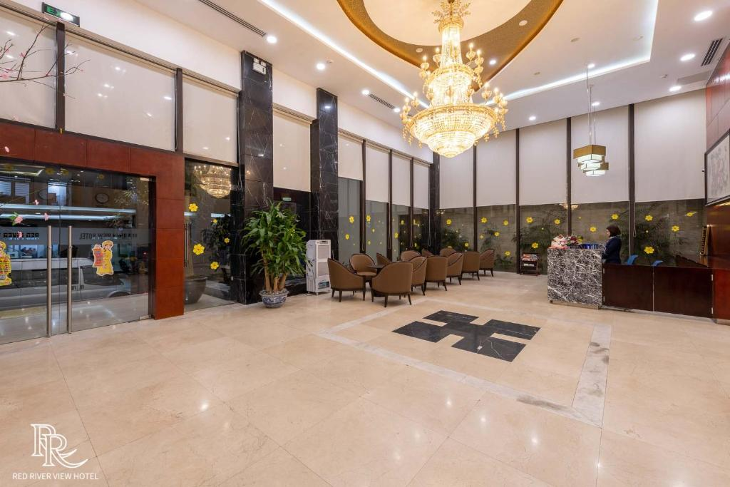 Khu vực sảnh/lễ tân tại Red River View Hotel