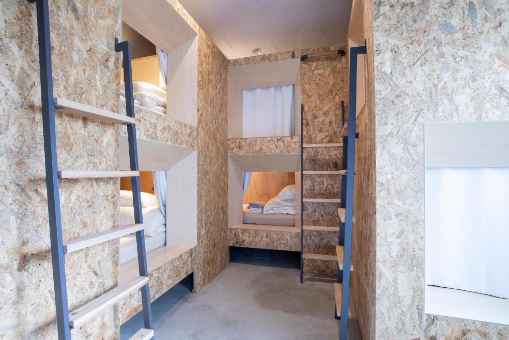 HafH Nagasaki SAIにある二段ベッド