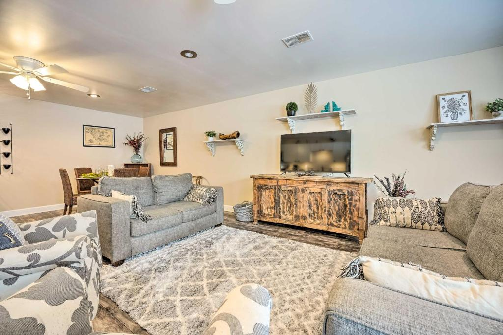 Dog-Friendly Abode with Fire Pit, 1 Mi to Lake!