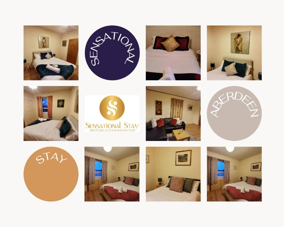 The floor plan of Sensational Stay Serviced Accommodation Aberdeen 4 Bedroom Apt - Bedford Road