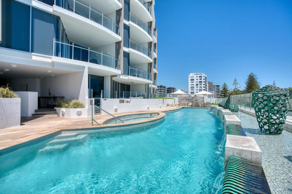 The swimming pool at or near Oceans Mooloolaba