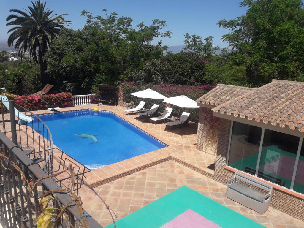 A view of the pool at Villa Luisanna or nearby