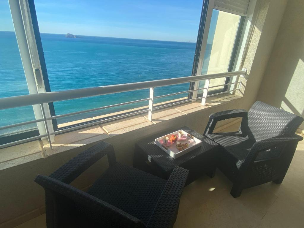 A balcony or terrace at Apartments Torre Levante 1H