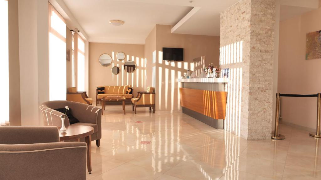 The lobby or reception area at Hotel Shaori