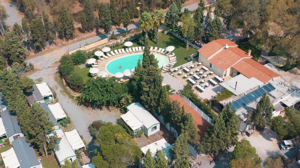 Vista aerea di Camping Village Flumendosa