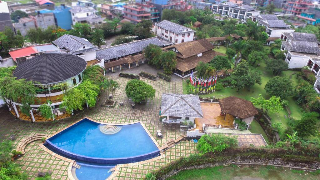 A bird's-eye view of Shangri-La Village Resort, Pokhara