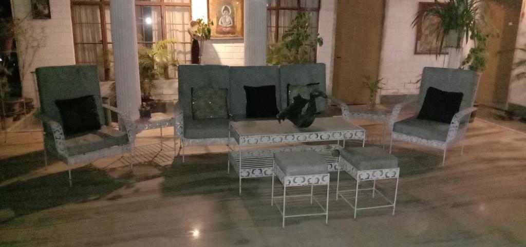 A seating area at Shubh Sadan Homestay
