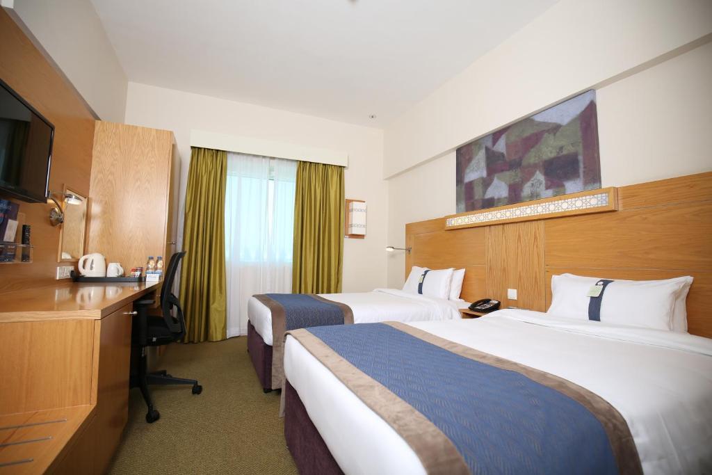 A room at the Holiday Inn Express Dubai Airport.