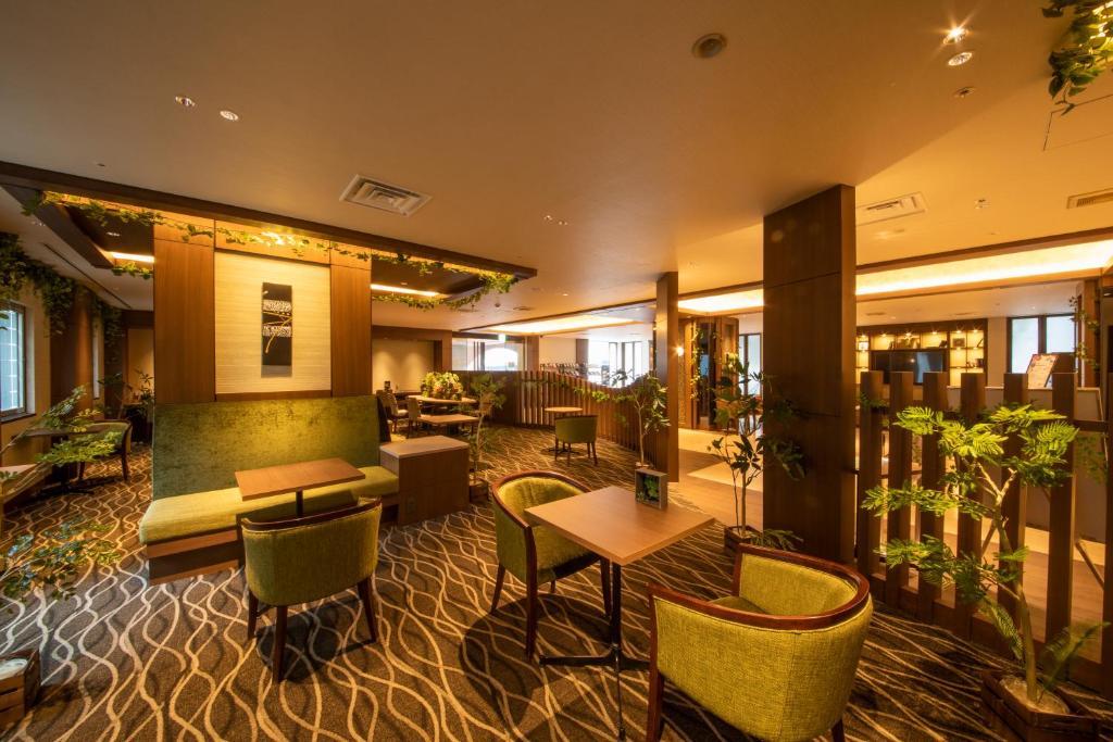 The lounge or bar area at Hotel Keihan Tenmabashi