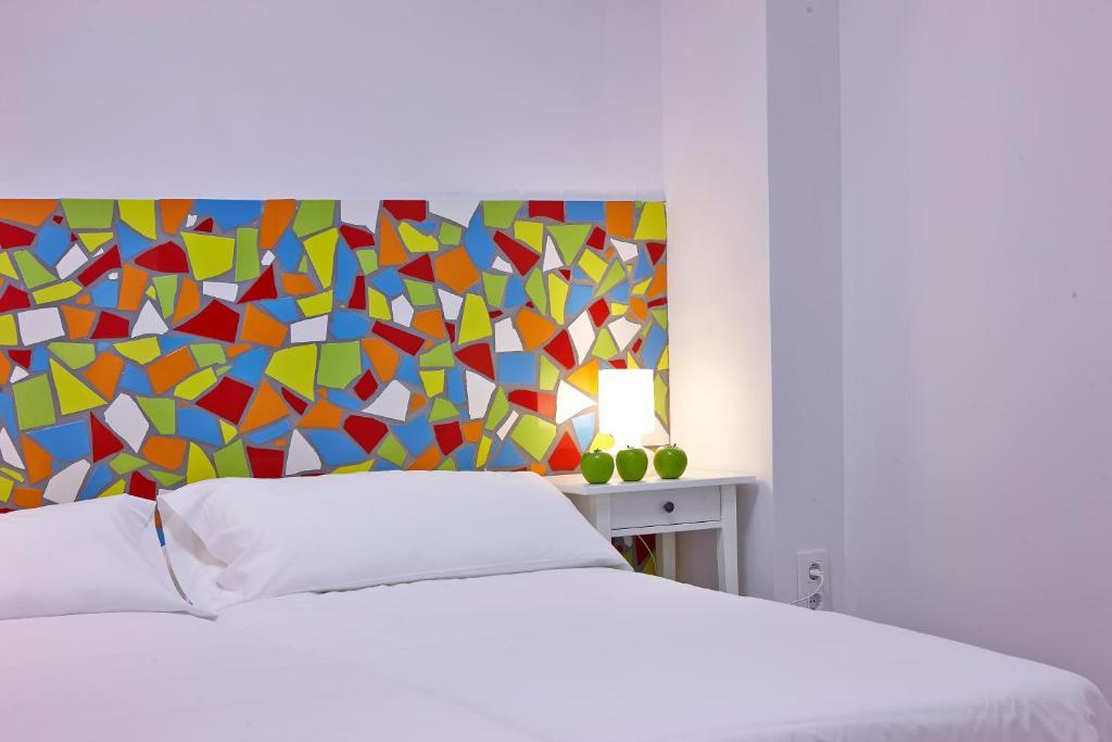 Cama o camas de una habitación en Pil Pil Hostel Bilbao