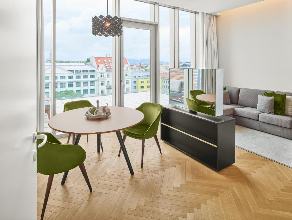 A seating area at MAXX by Steigenberger Vienna