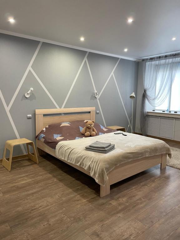 Кровать или кровати в номере Апарт-Отель ББ