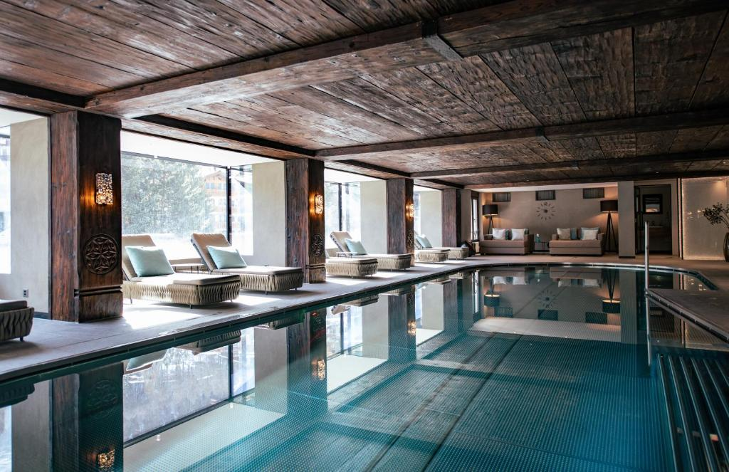 The swimming pool at or near Wellness Hotel Alpenhof