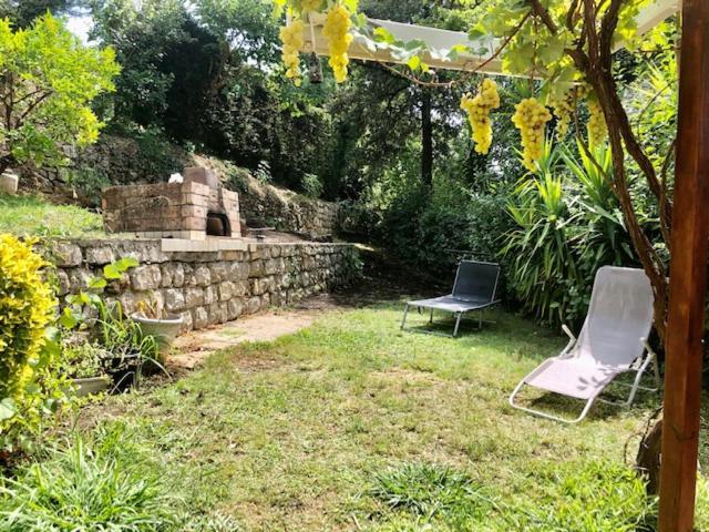 A garden outside Maison atypique