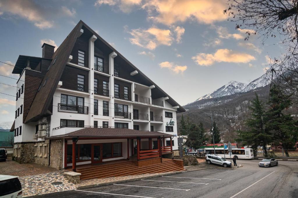 Лес-Forest Apart Hotel зимой