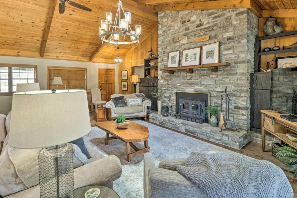 Renovated Riverfront Retreat with Deck and Grill!