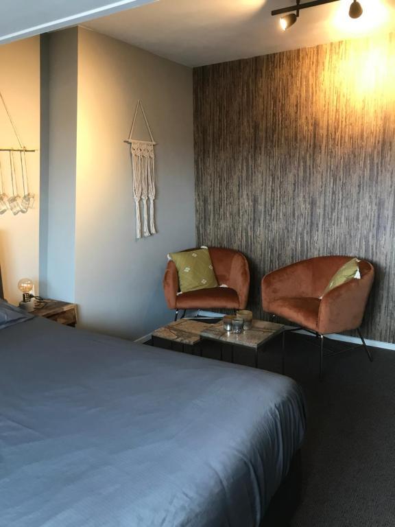 Ein Bett oder Betten in einem Zimmer der Unterkunft Bed and Breakfast Kik en Bun