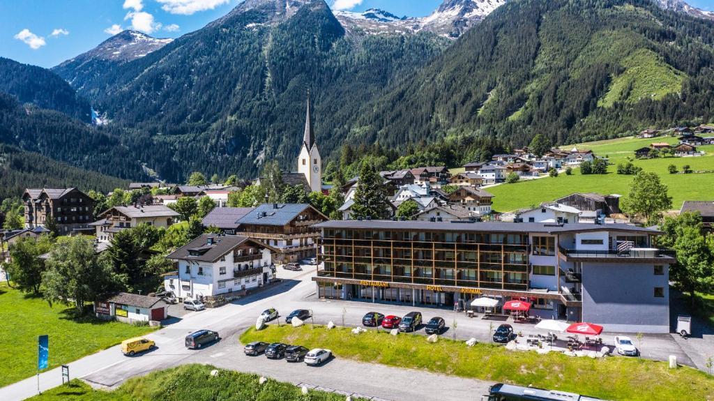 Blick auf Hotel Krimml aus der Vogelperspektive