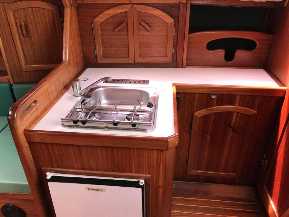 Kuchyň nebo kuchyňský kout v ubytování Siófok Dock