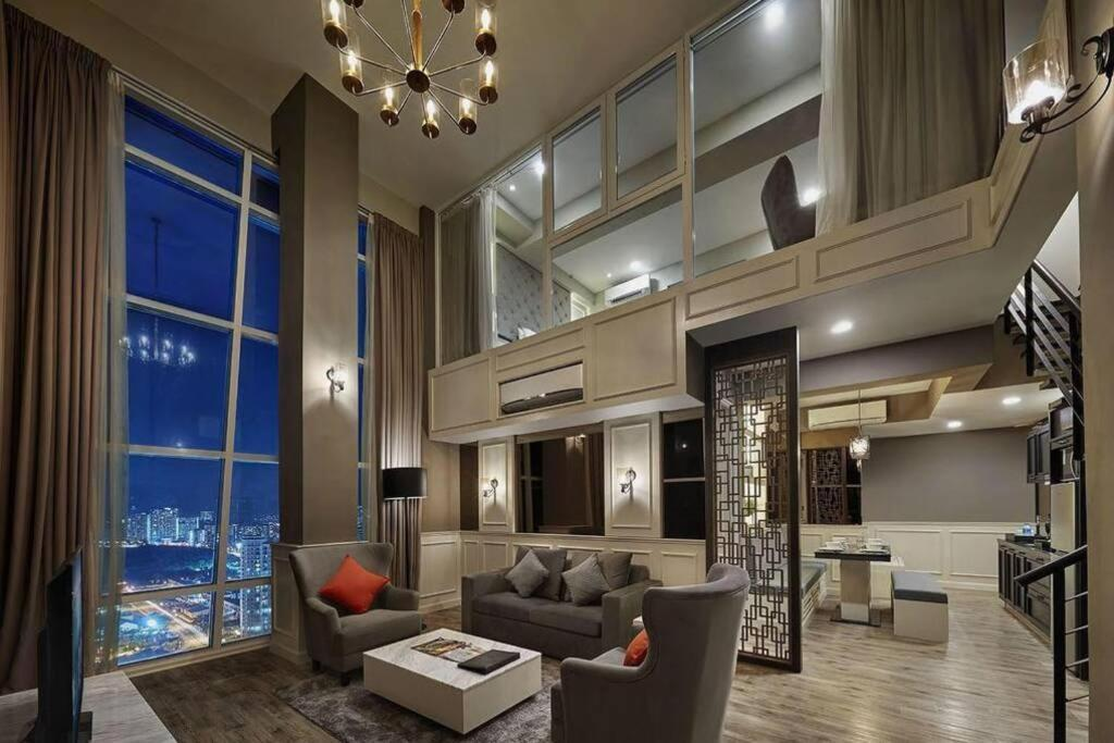 The lobby or reception area at Penang Seaview Maritime Luxury Suite 槟城海景公寓